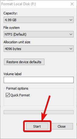 Format create Virtual Hard disk