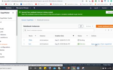 AWS install jupyter notebook instance