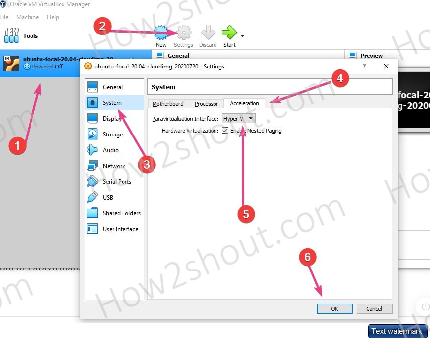 Configure VirtualBox to work with Hyper V