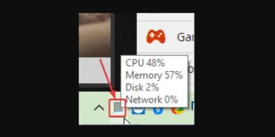 Display CPU usage on Windows 10 Taskbar without any additional software