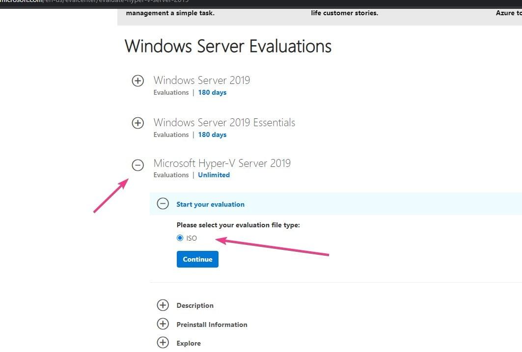 Download free hyper V 2019 server ISO