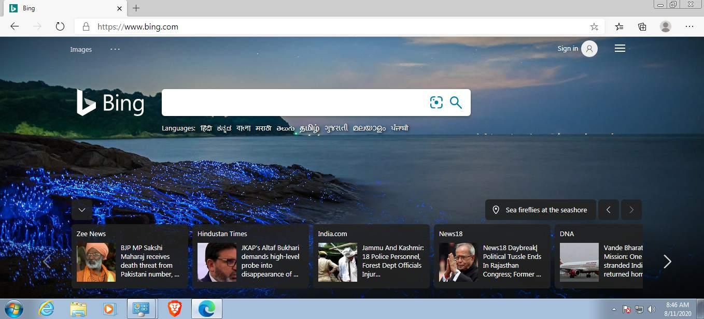 Chrome Edge on Win 7