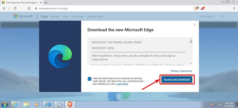 Download Microsoft Chrome Edge on Windows 7