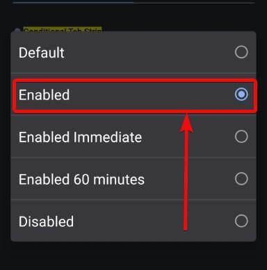 Enable new tab strip Chrome