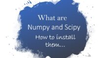 Install Numpy and Scipy in Python
