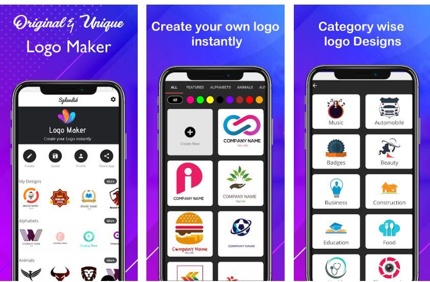 Logo maker 2020 3D logo designer creator android app min