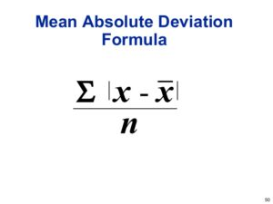 MAD- Mean Absolute Deviation Formula