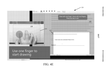Microsoft Touch Screen patent for non touch devices