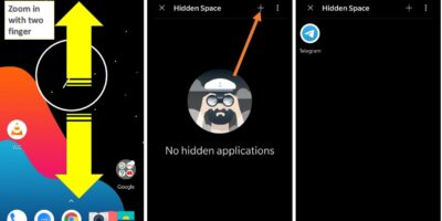 Use Oneplus hidden space to hide apps