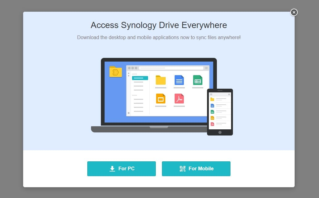 Client application for Synology
