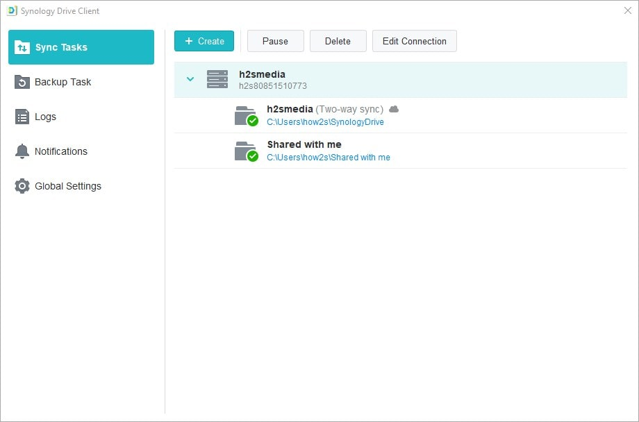 Select the folder you want to sync with cloud drive