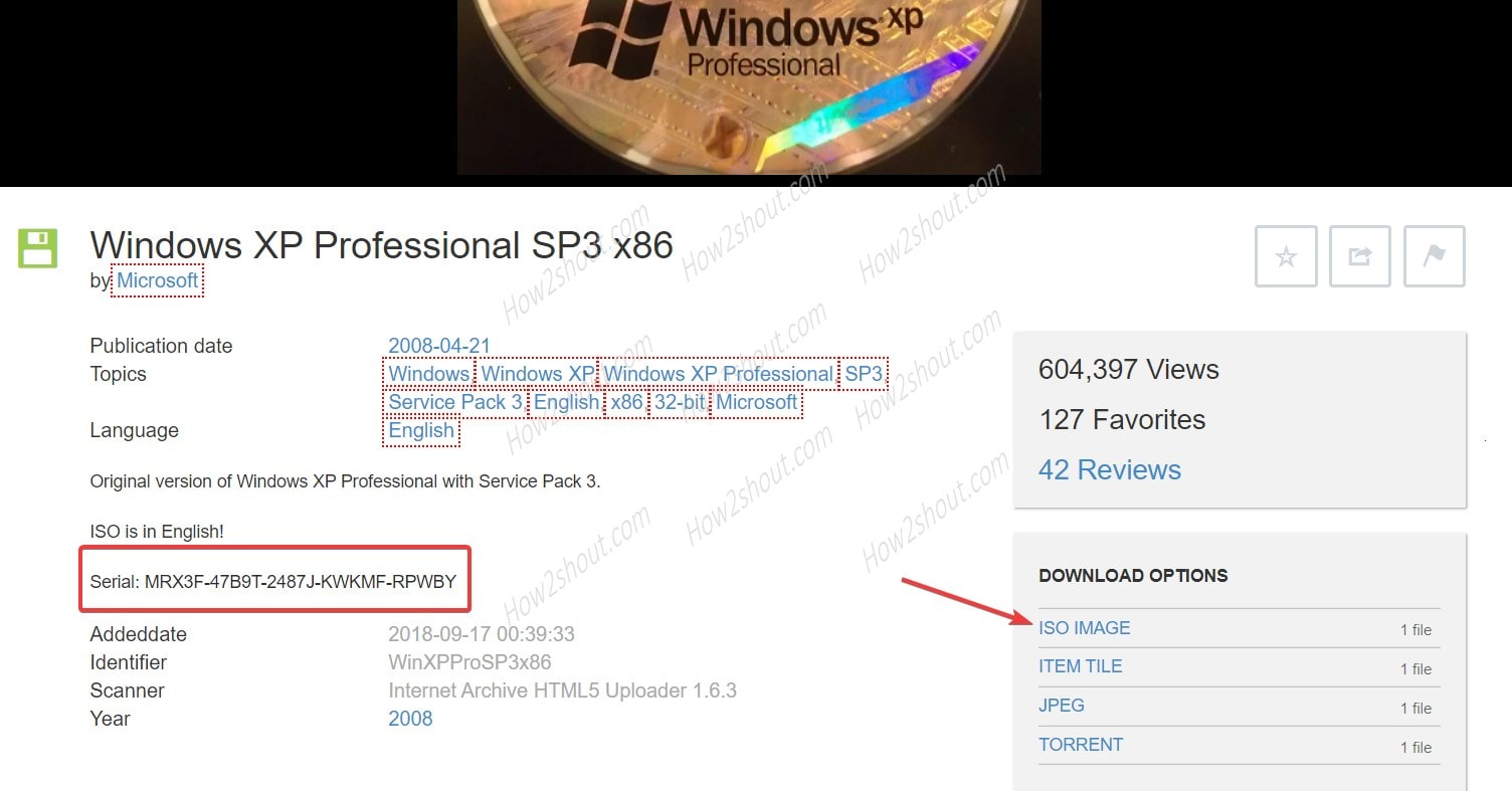 download windows XP ISO