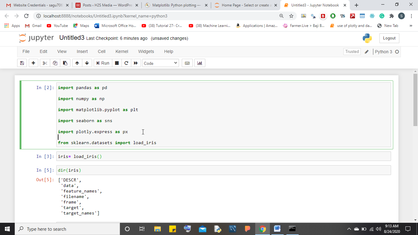 Install various Machine learning libraries using jupyter notebook