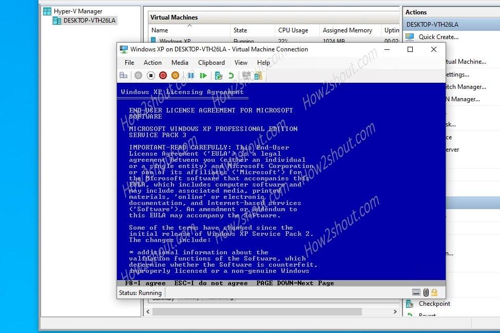 Windows XP Emulator installation
