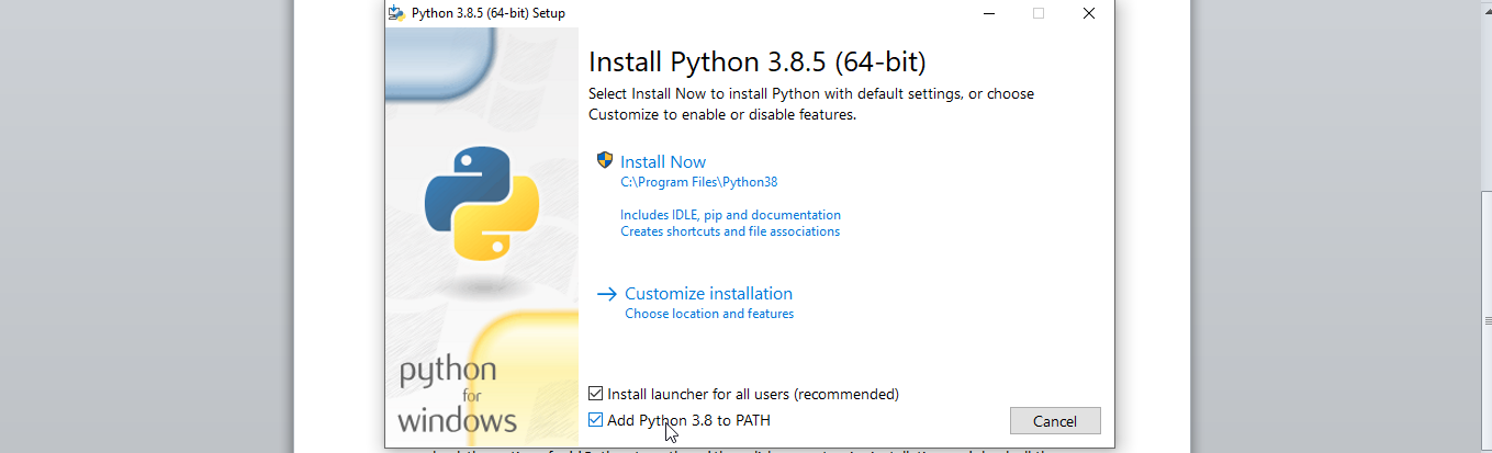 Download python windows 10