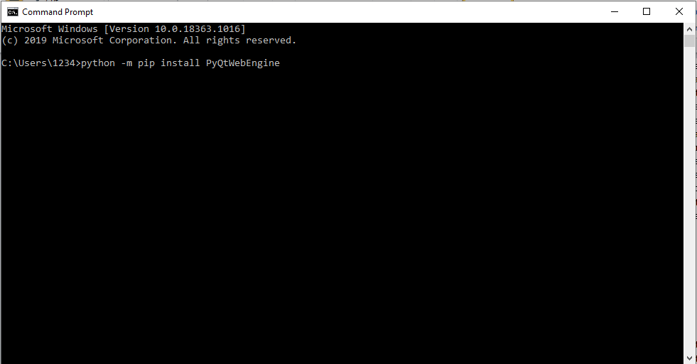 install PyQtWebEngine