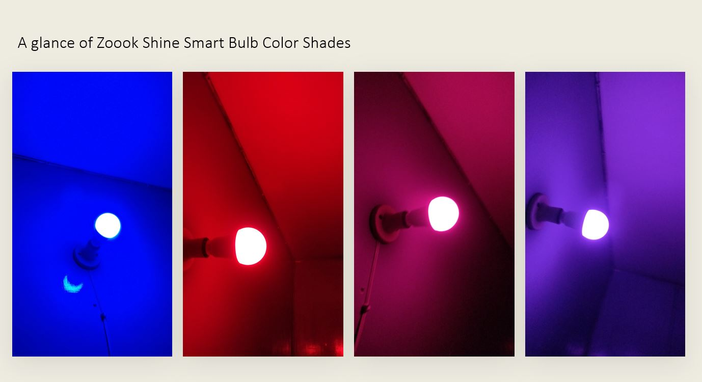 A glance of Zoook Shine Smart Bulb Color Shades