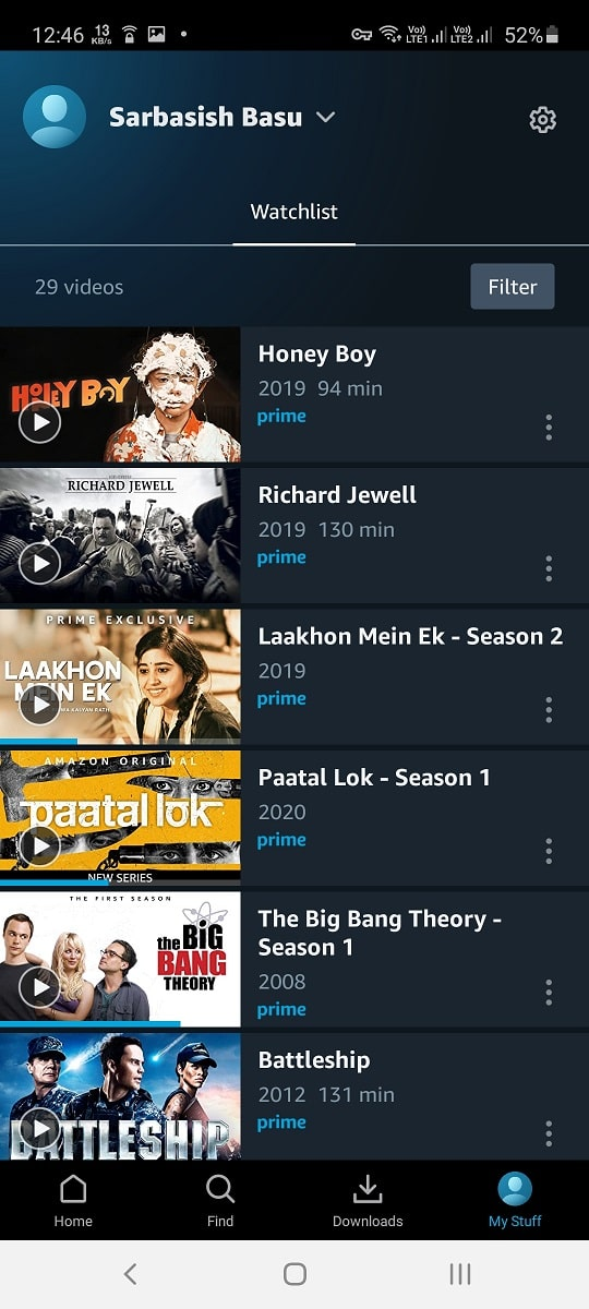 Amazon Prime best quality on mobile data 20 min
