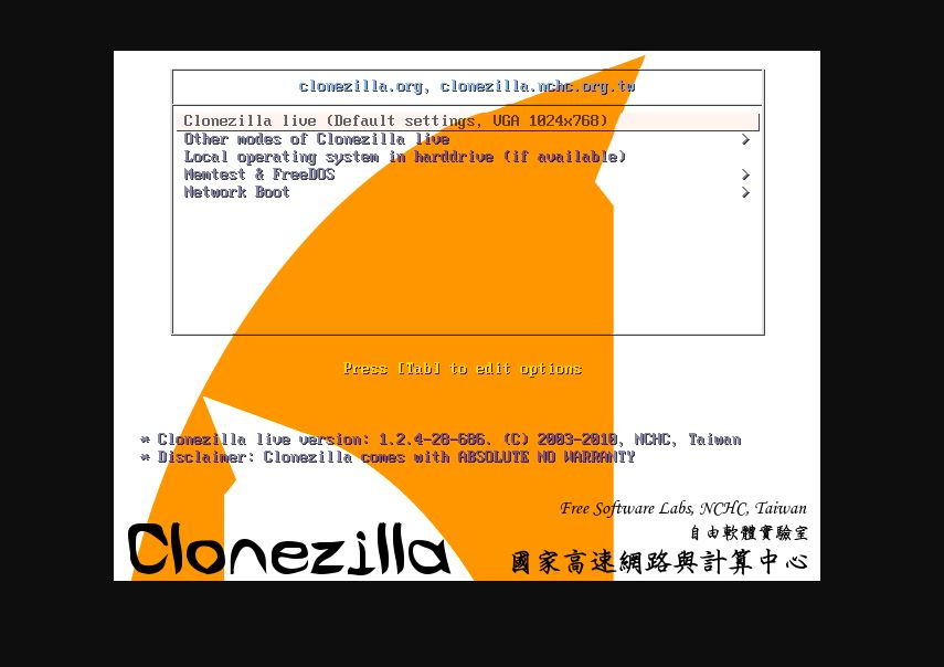Clonezilla Free and Opensource disk clonning and imagging software Linux