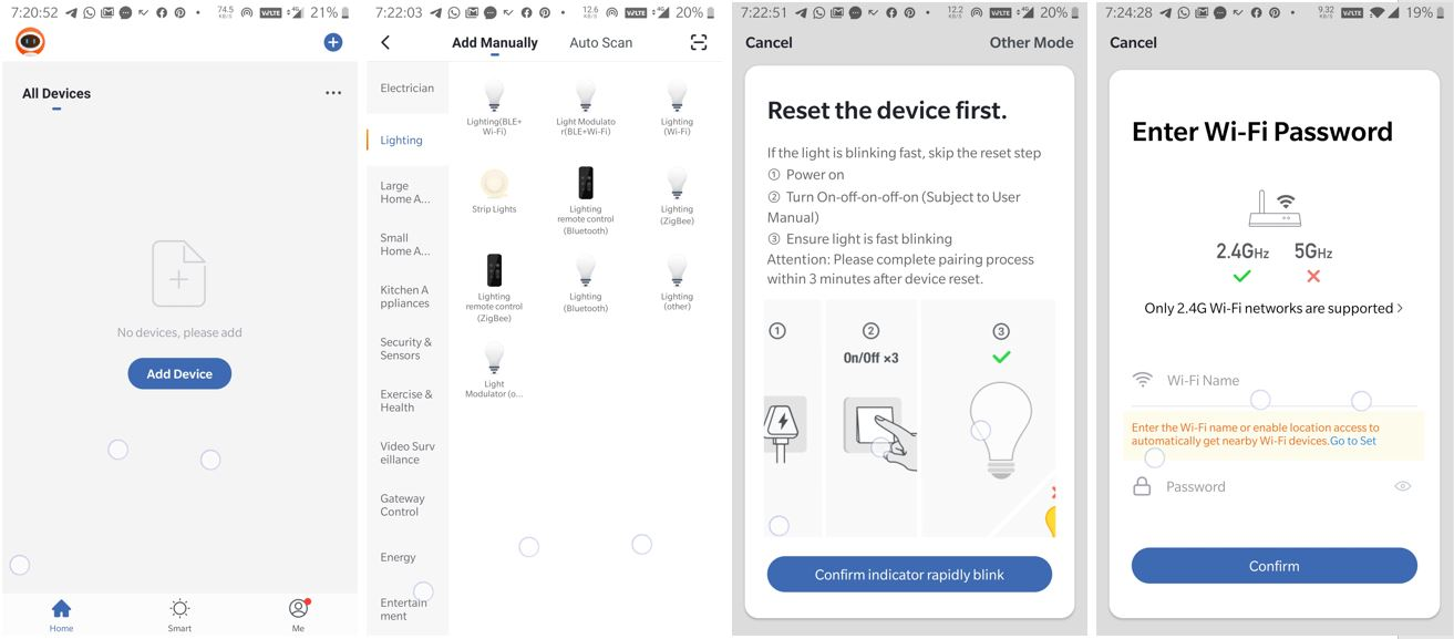 Connect Zook smart Bulb with Wifi netwrok min