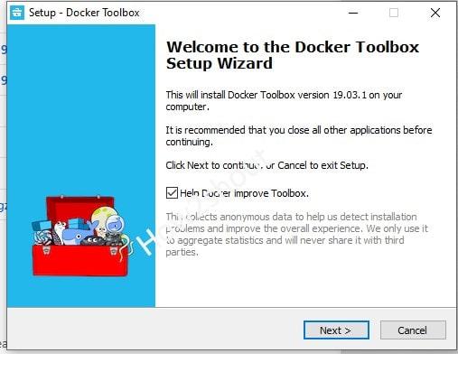Docker CE installation on WIndows 7 min