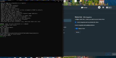 Docker on Wsl 2 using the powershell min