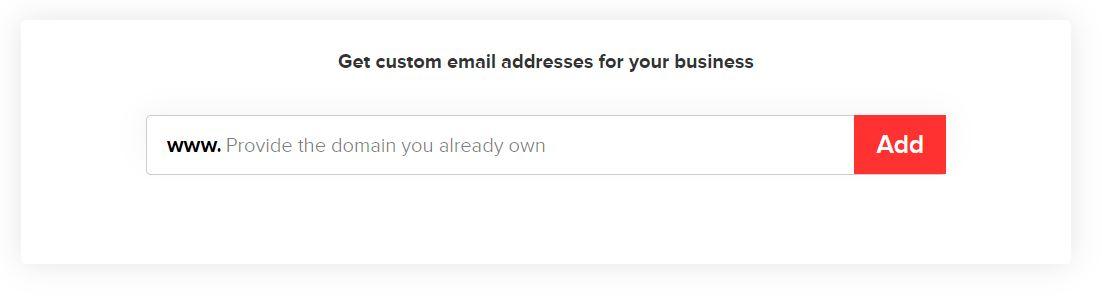 Enter your Domain Address