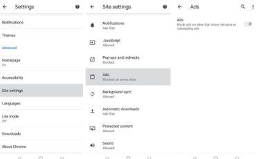 Google Chrome In built Ads blocker