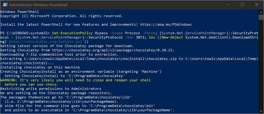 Install Docker using powershell on Windows WSL 2