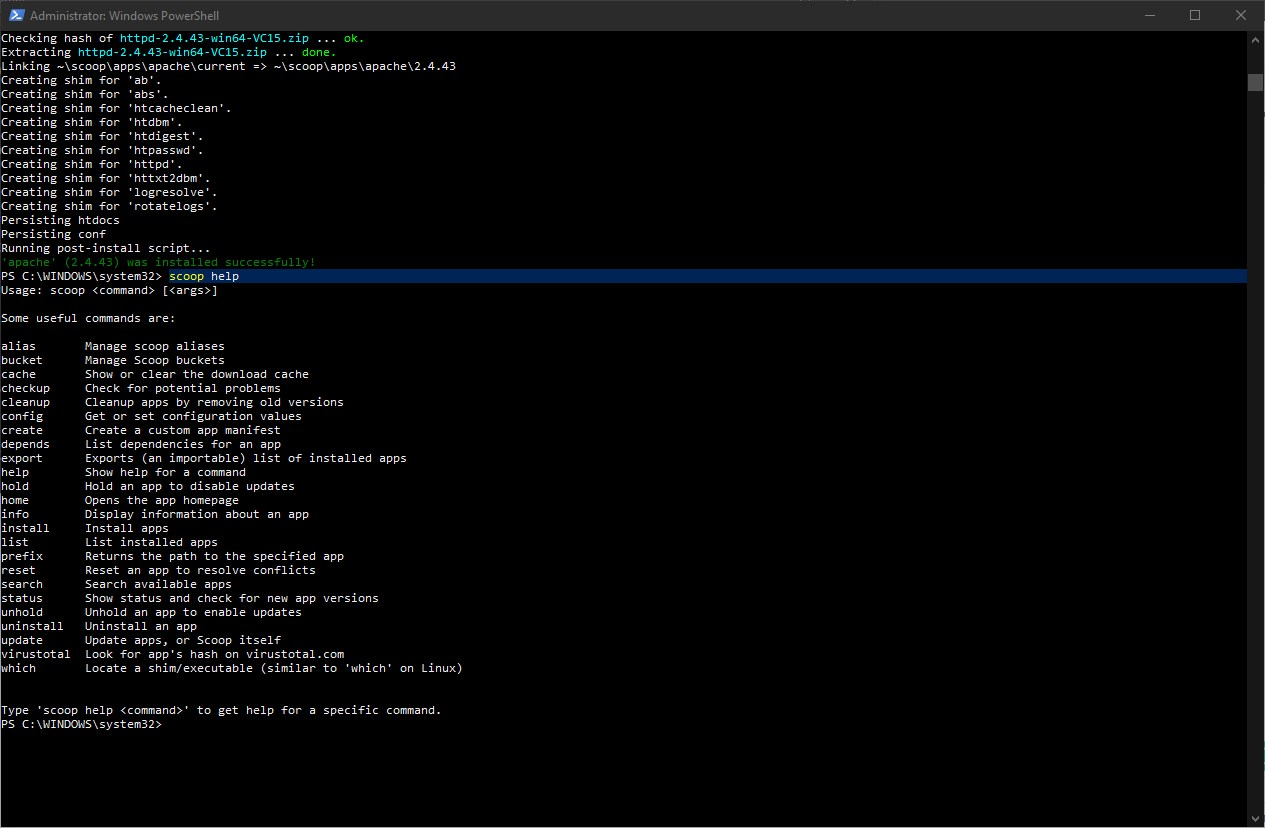 Install Scoop Command line Package Manager on Windows 10