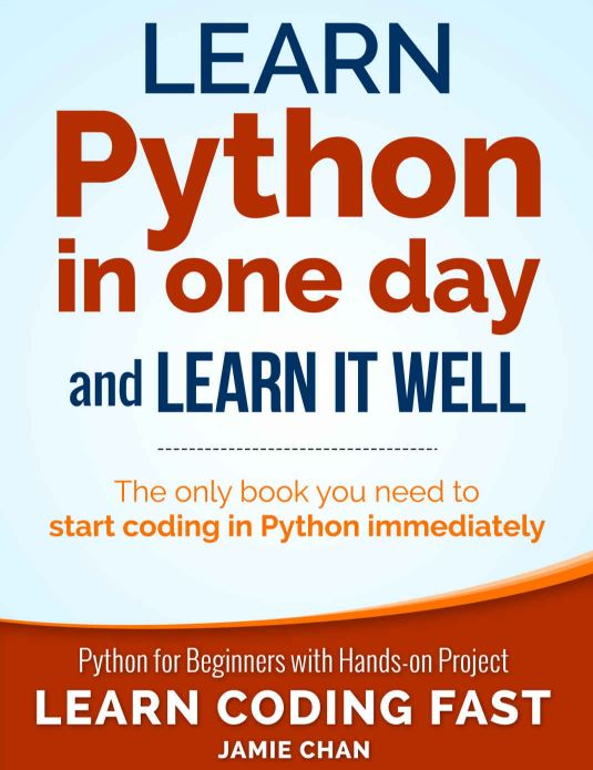 LEarn Python in One Day book for beginners min