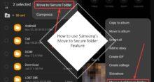 Move to Secure Folder featrure on Samsung smartphone