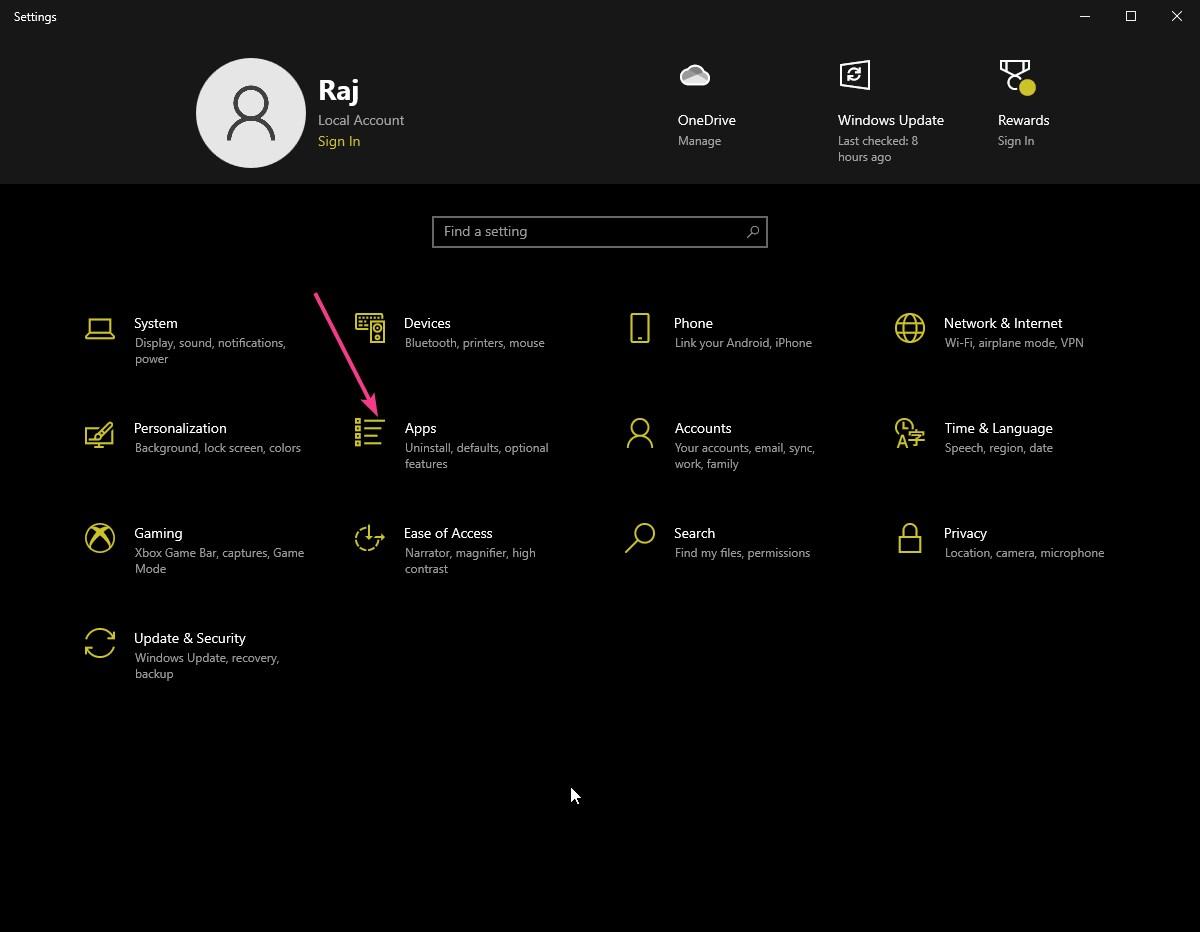 Open Apps to access autostart programs