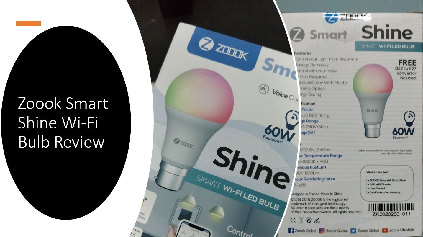 Zoook Smart Shine Wi fi LED Bulb Review min