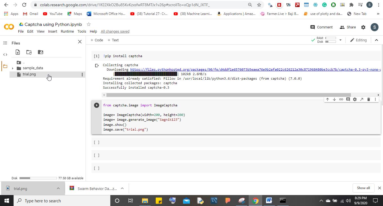 create captcha using Python