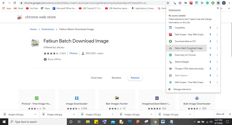 fatkun batch download image