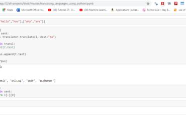 Translate Languages using Python