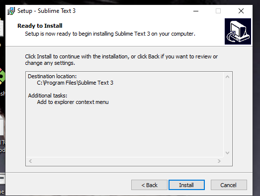 sublime install on Windows 7