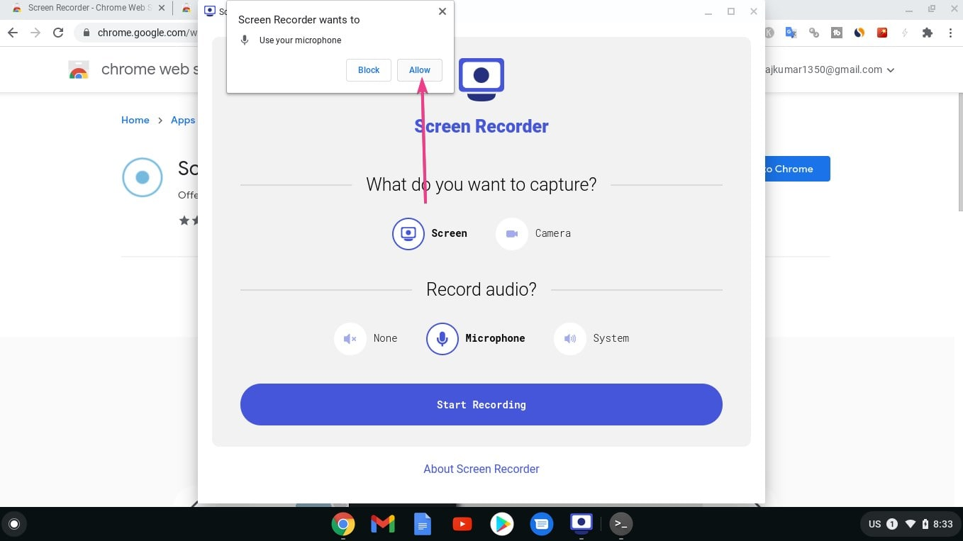 Allow Audio Recording from Mic min
