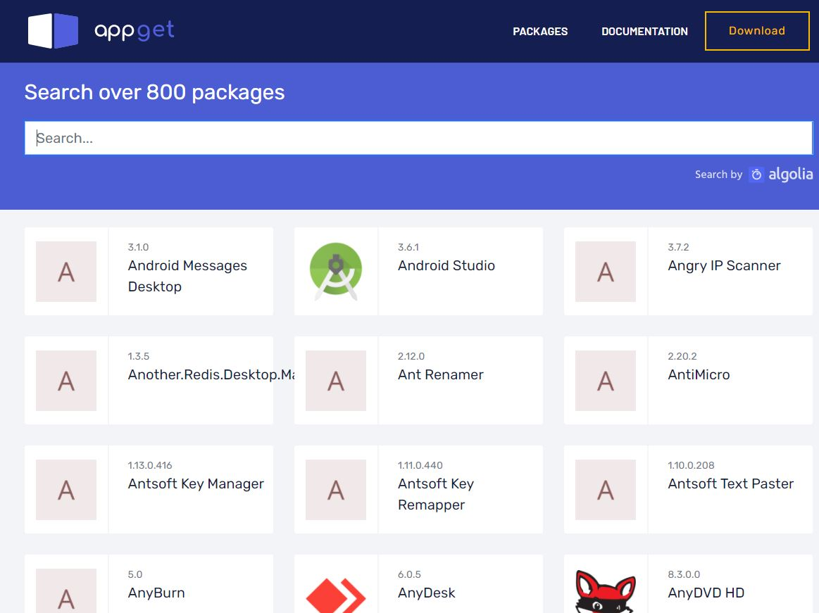 Appget Windows Package Manager