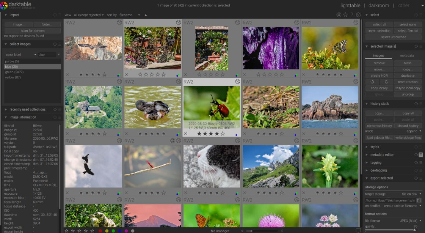 Darktable proffesional free raw image editing sofwater for Windows 10 min