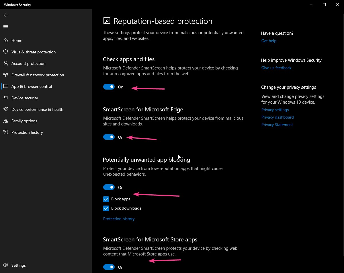 Disable Windows Defender SmartScreen