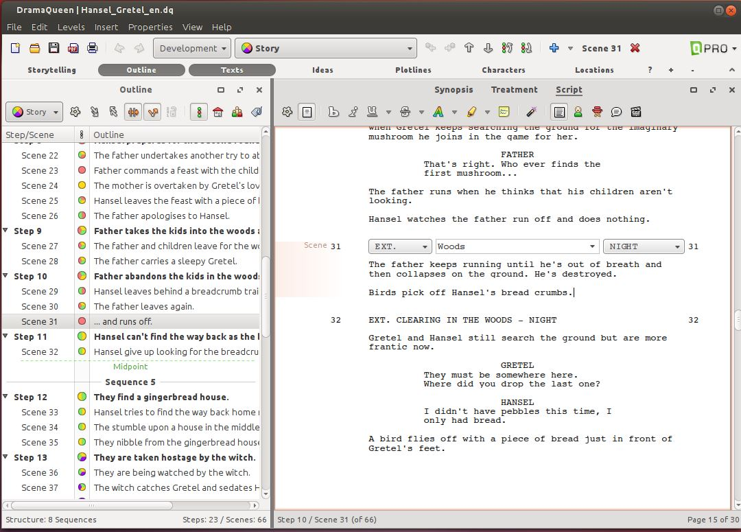 DramaQueen top book or scriptwriting software