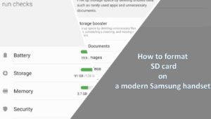 How to format SD card on a modern Samsung handset min
