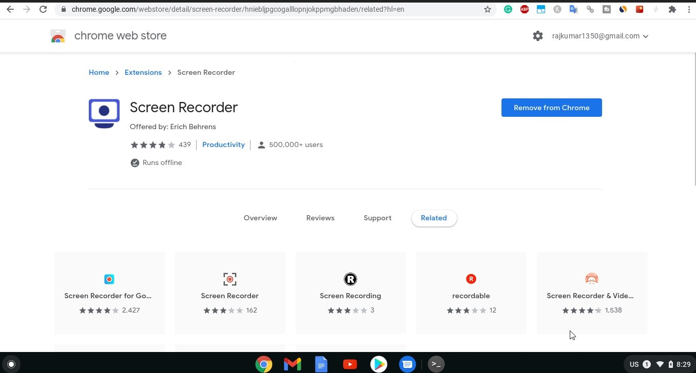 Install Screen recorder on Chrome OS min