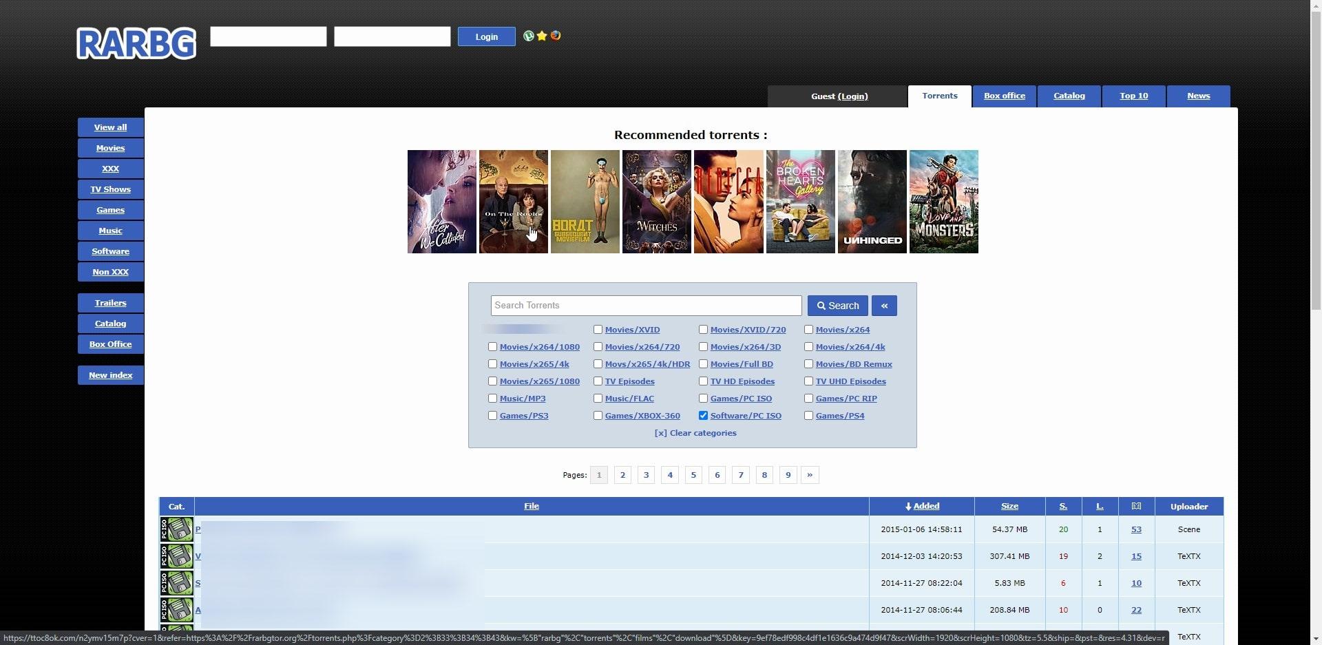 RARBG software Torrent 2020 website