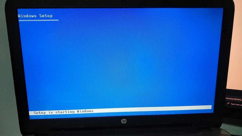 Setup starting Windows XP compressed