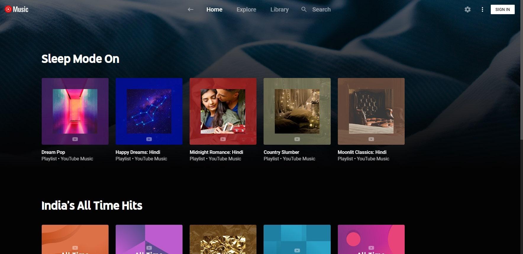 YTM youtube music app for WIndows