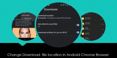 change the default Google Chrome browser download location for Android min