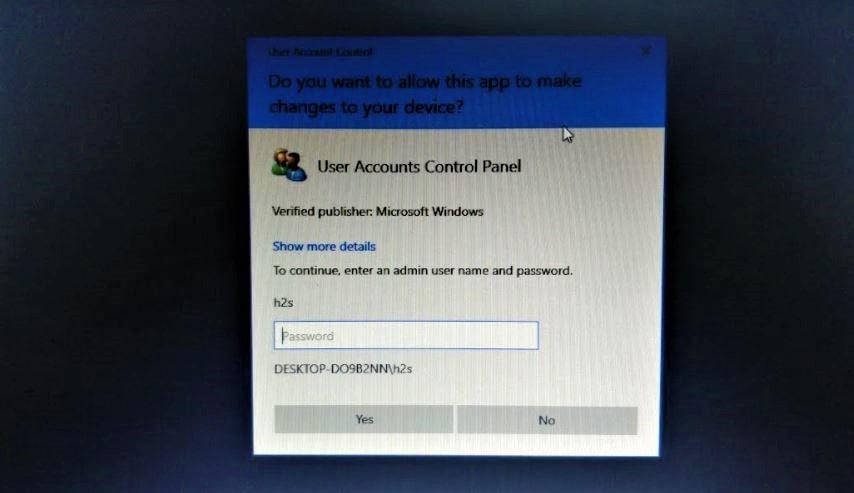 Enter the Admin password min